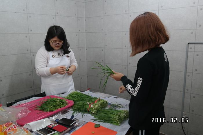 자원봉사자들